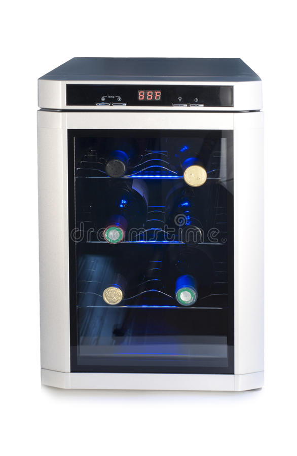Refrigerador do vinho fotografia de stock royalty free