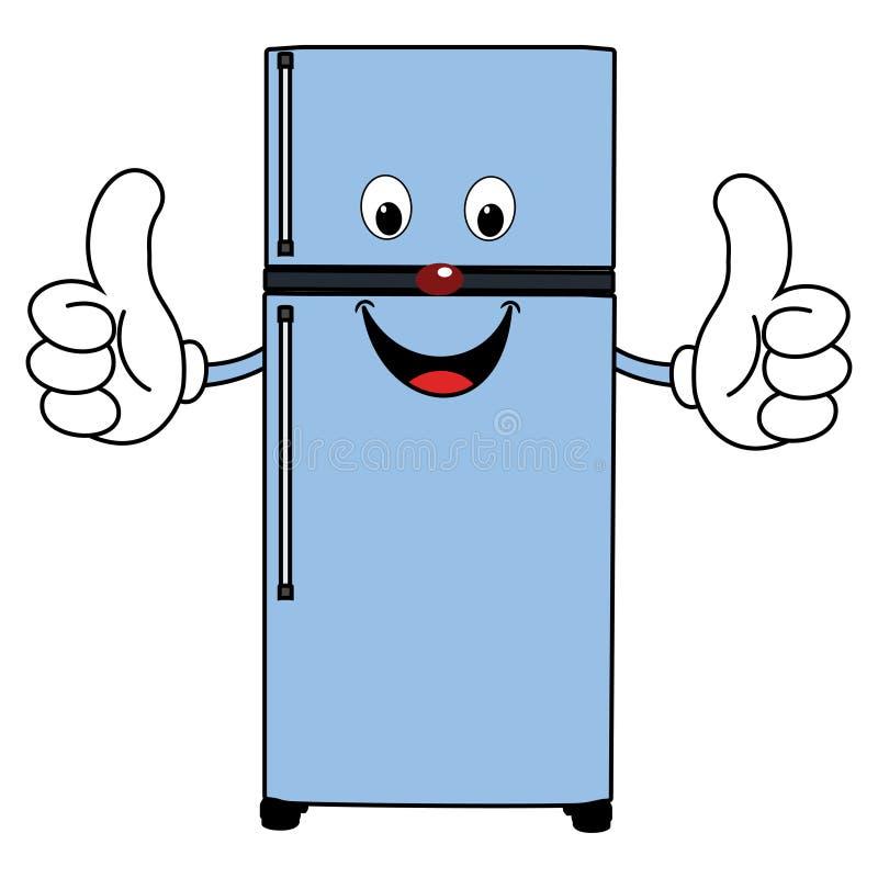 Refrigerador feliz de la historieta libre illustration