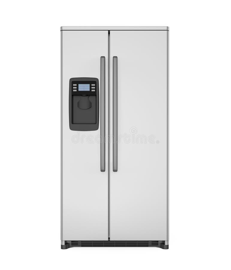 Refrigerador moderno aislado stock de ilustración