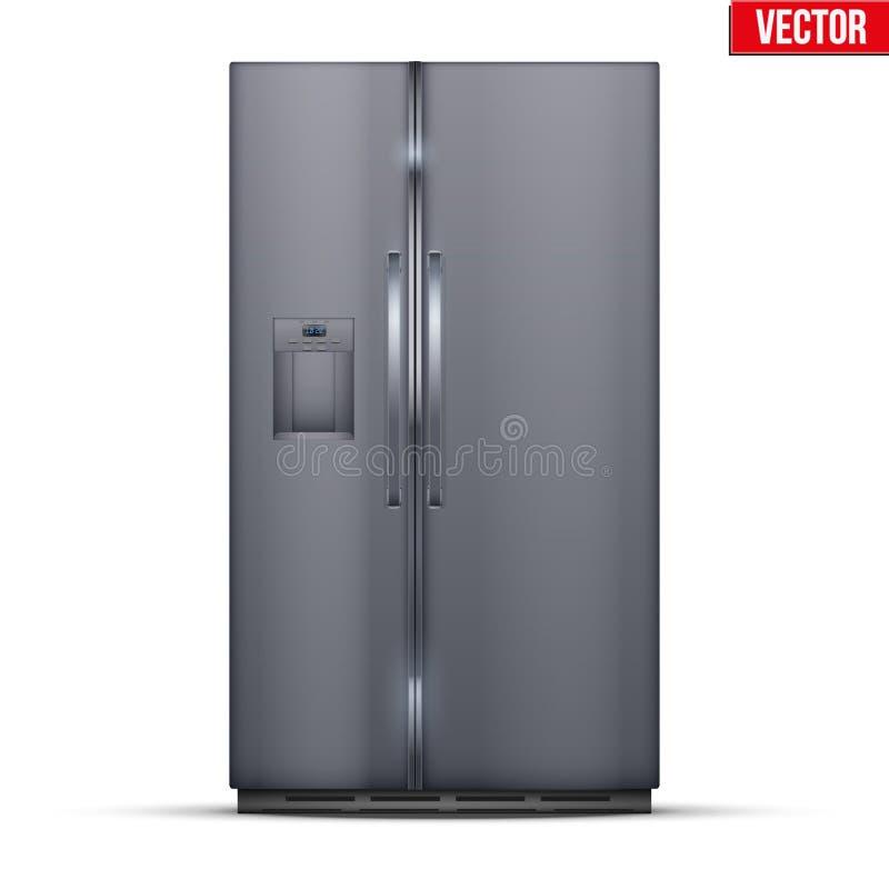 Refrigerador moderno del congelador de refrigerador ilustración del vector