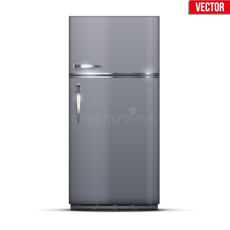 Refrigerador moderno del congelador de refrigerador libre illustration