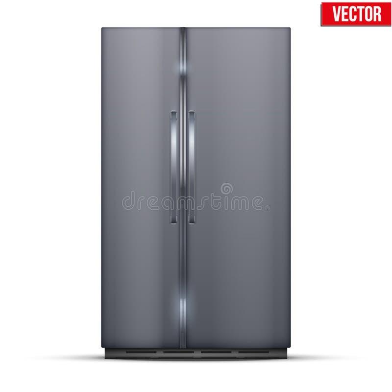 Refrigerador moderno del congelador de refrigerador stock de ilustración