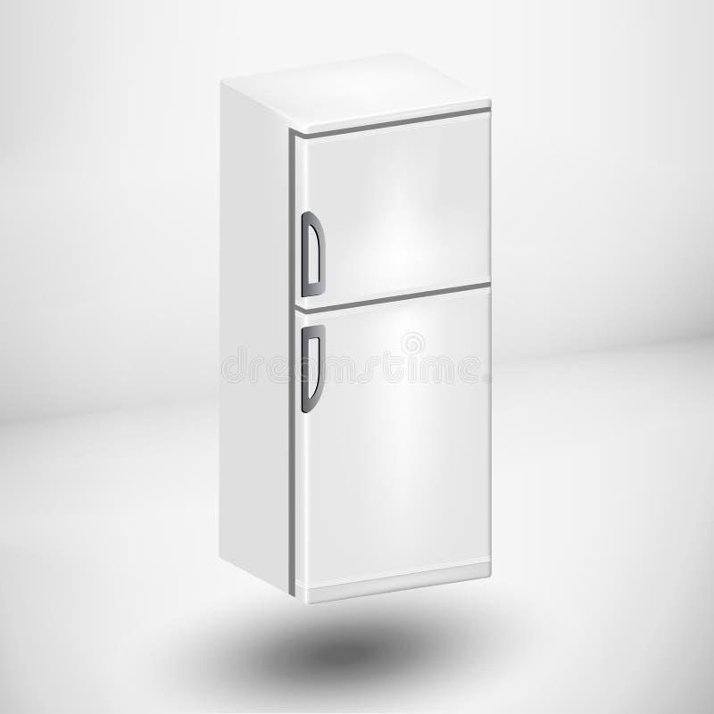 Refrigerador o refrigerador stock de ilustración