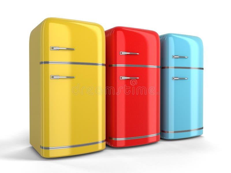 Refrigerador retro ilustración del vector