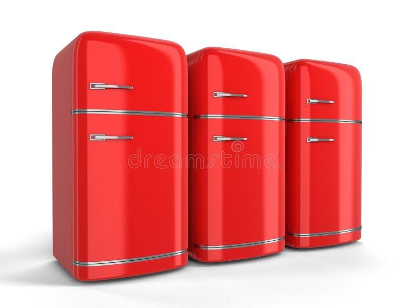 Refrigerador retro stock de ilustración