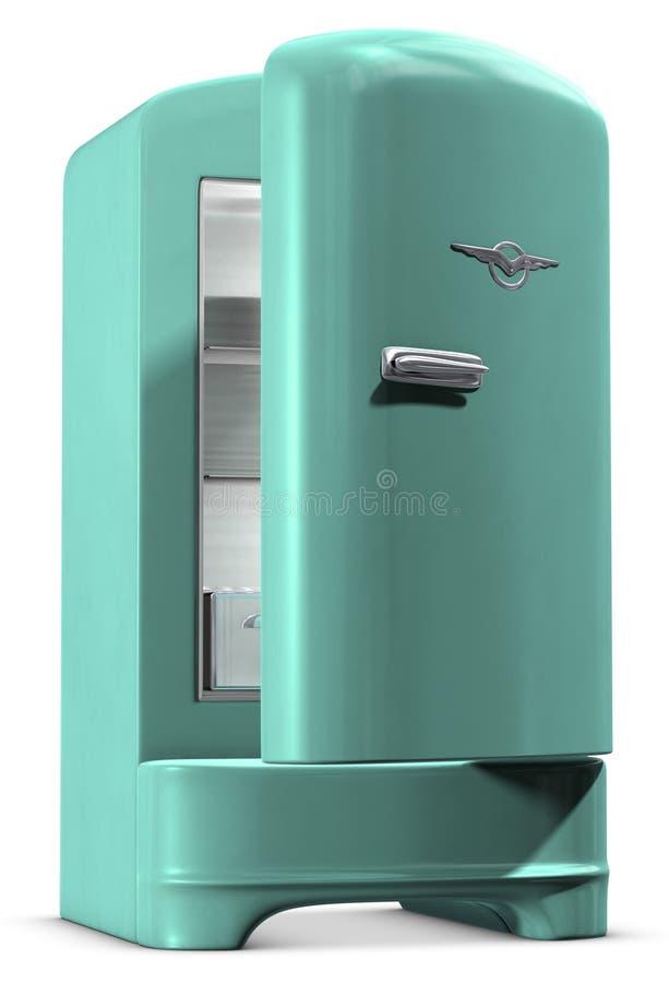 Refrigerador retro ilustração stock