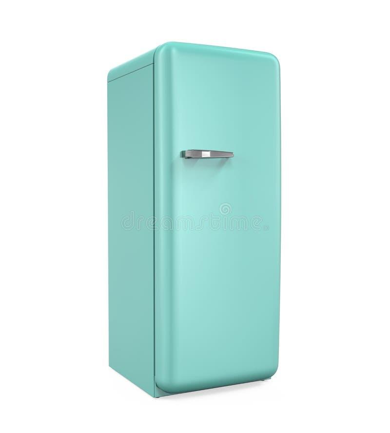 Refrigerador retro aislado stock de ilustración