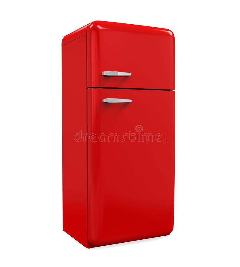 Refrigerador retro aislado ilustración del vector