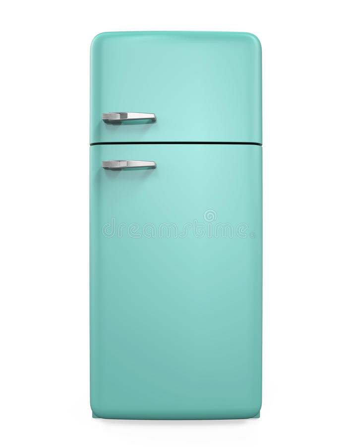 Refrigerador retro aislado libre illustration