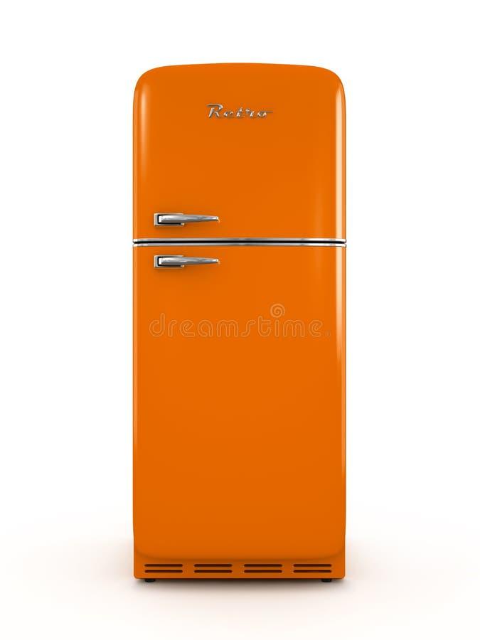 Refrigerador retro aislado en la representación blanca del fondo 3D libre illustration
