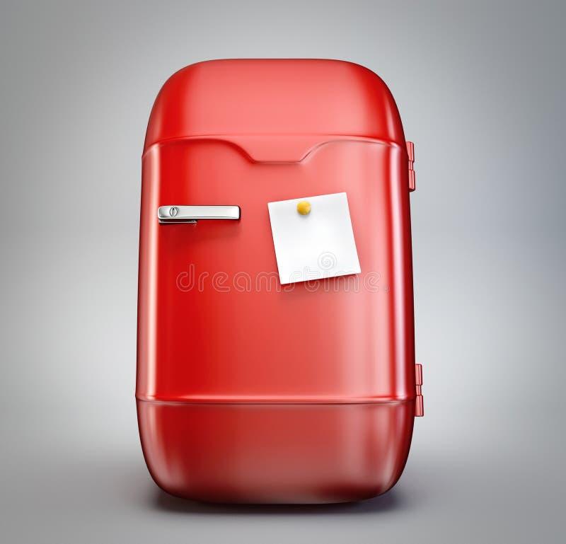Refrigerador rojo ilustración del vector