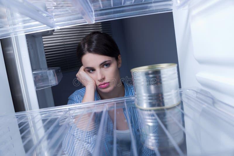 Refrigerador vacío foto de archivo libre de regalías