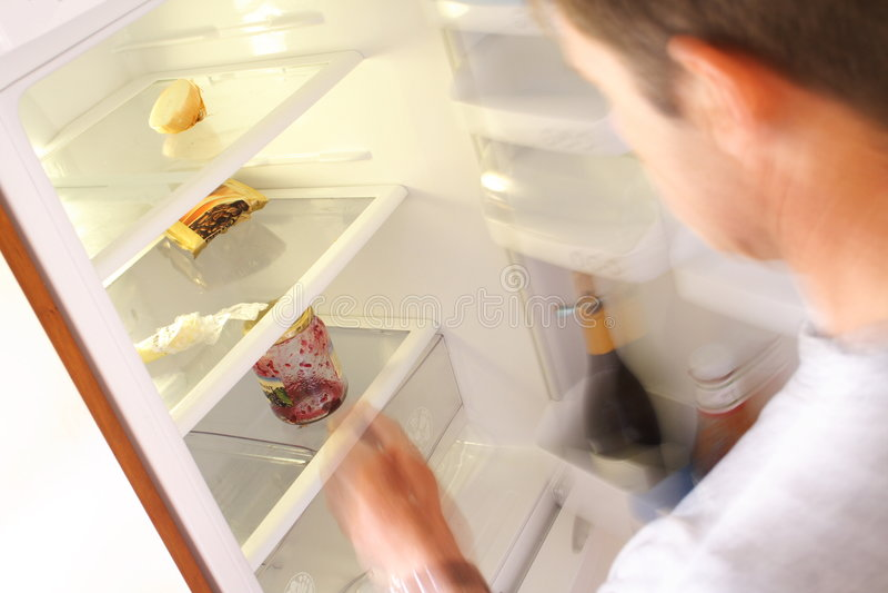 Refrigerador vacío imágenes de archivo libres de regalías