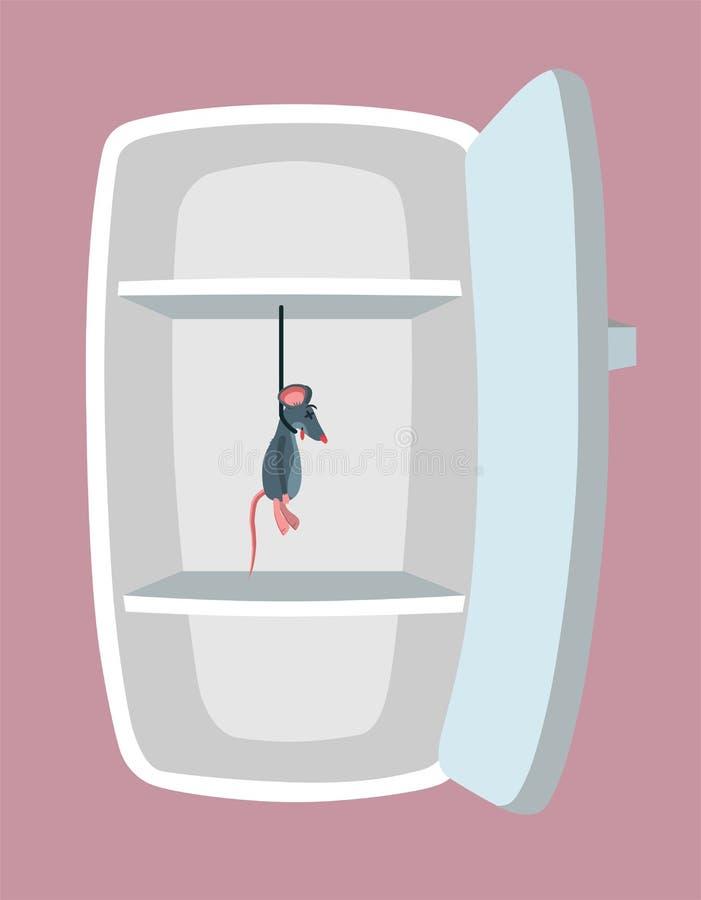Refrigerador vacío Estilo de la historieta libre illustration