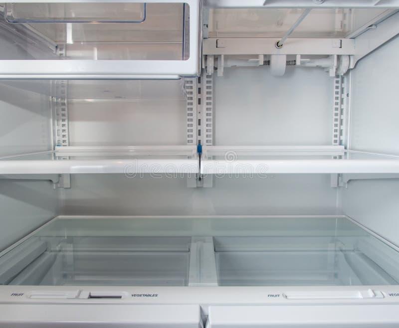 Refrigerador vazio imagens de stock royalty free