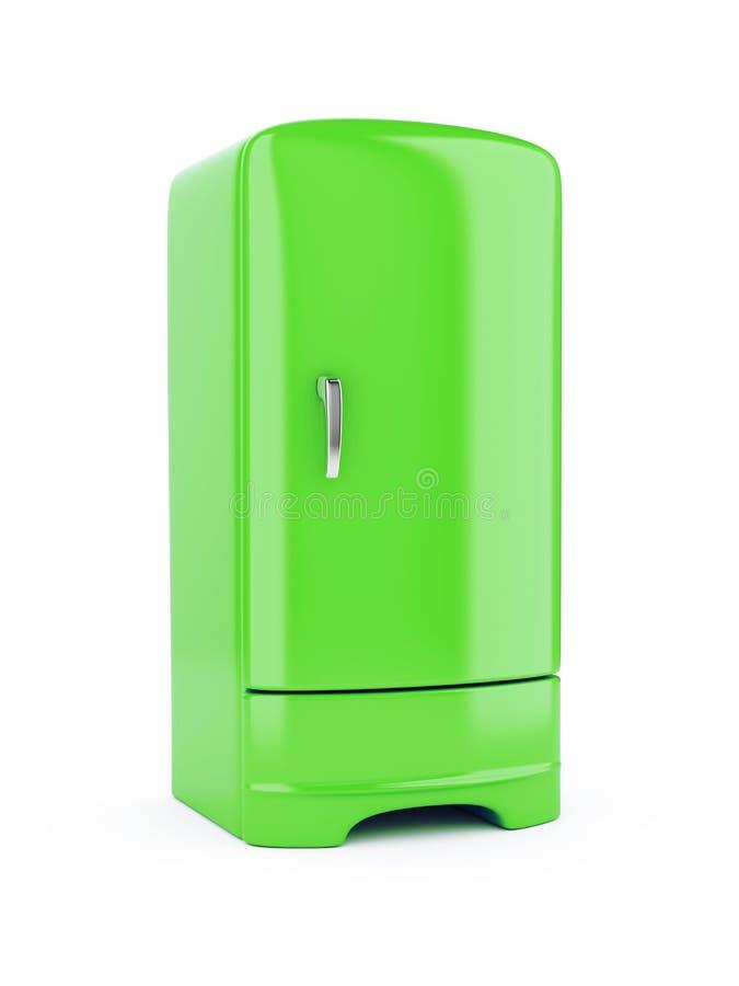 Refrigerador verde ilustración del vector