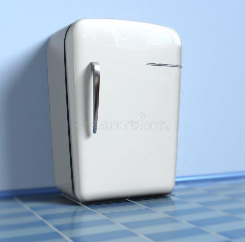 Refrigerador viejo stock de ilustración
