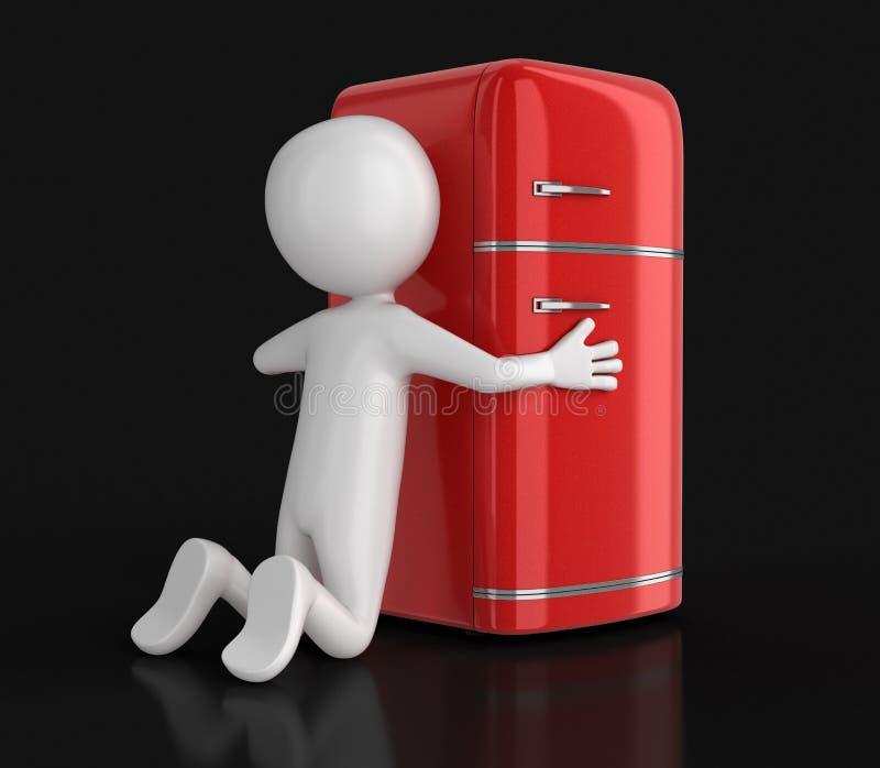 Refrigerador y hombre retros libre illustration