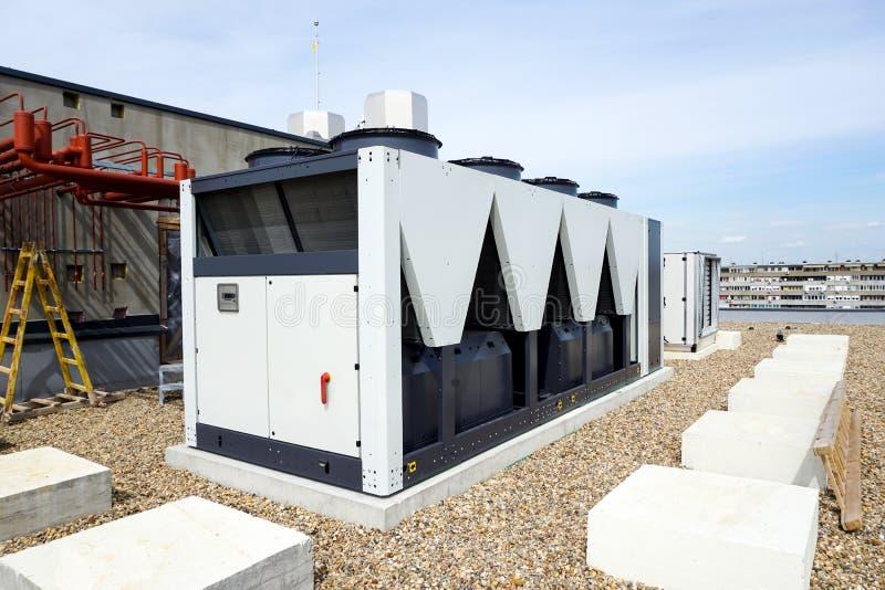 Refrigeradores de agua refrescados aire imagen de archivo