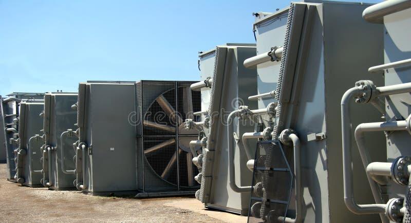 Refrigeradores industriais fotografia de stock royalty free