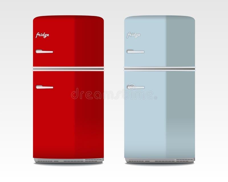 Refrigeradores retros ilustración del vector