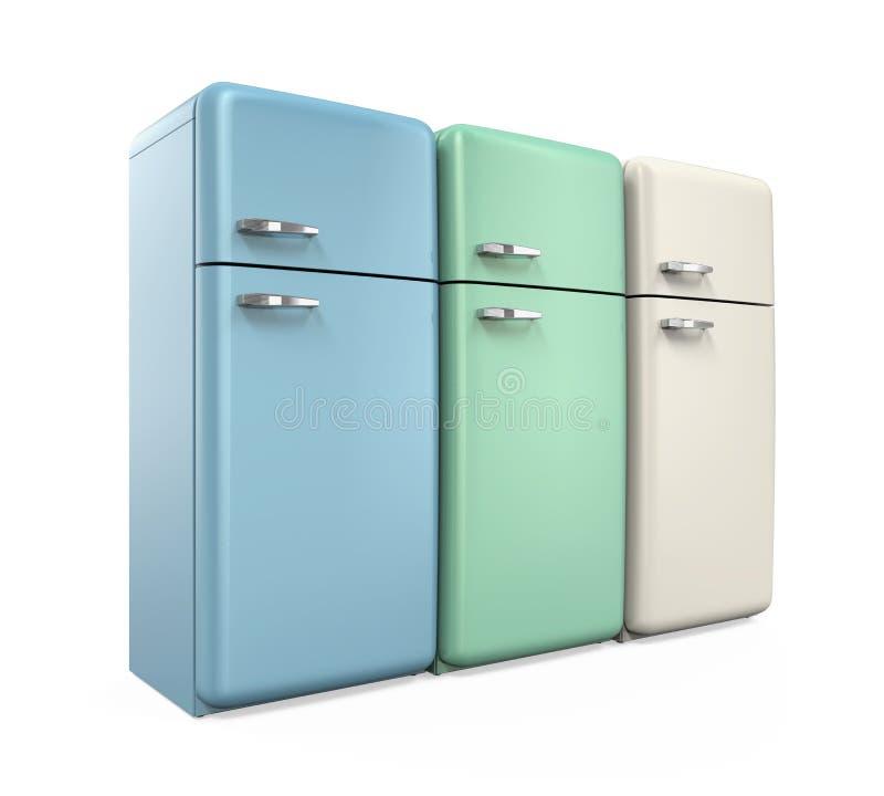 Refrigeradores retros aislados libre illustration