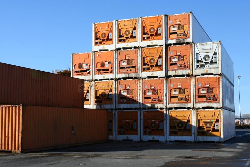 refrigerated контейнеры стоковая фотография rf