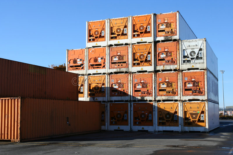 Download Refrigerated Containers stock image. Image of wharf, cargo - 1408417