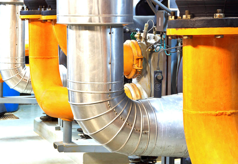 Refrigeration compressors, chiller stock image