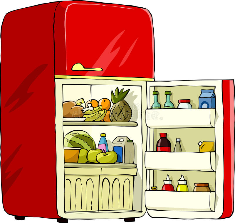 Refrigerator royalty free illustration