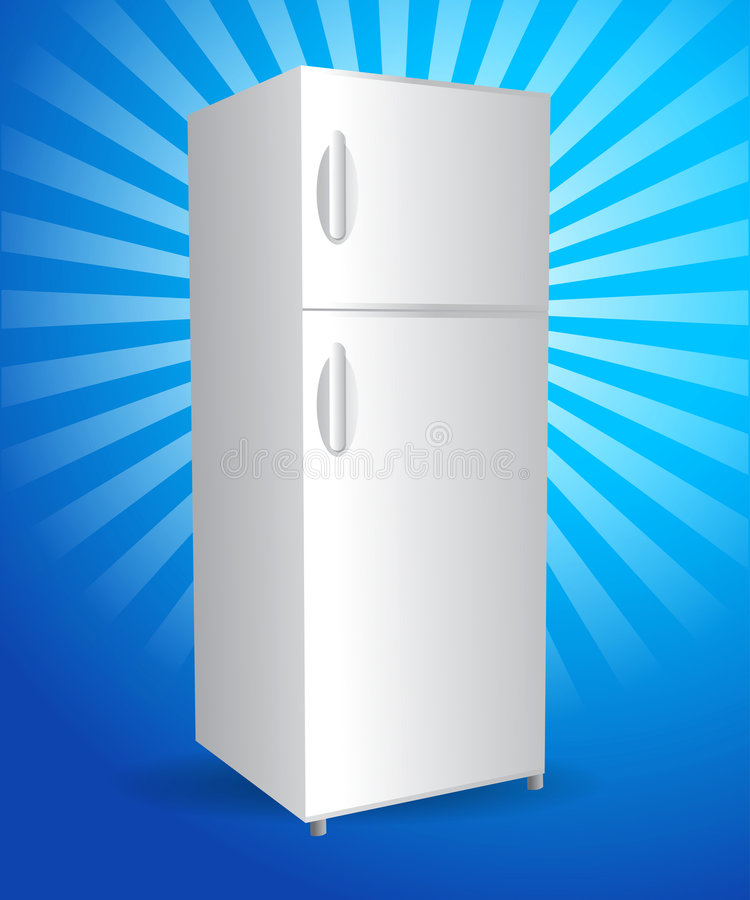 Download Refrigerator stock vector. Image of background, handle - 9181105