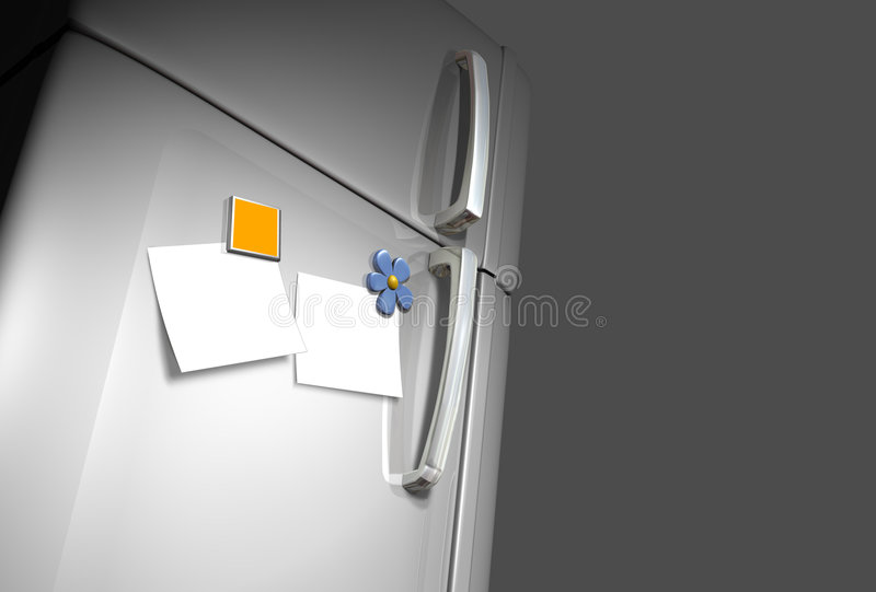 Refrigerator door royalty free stock image