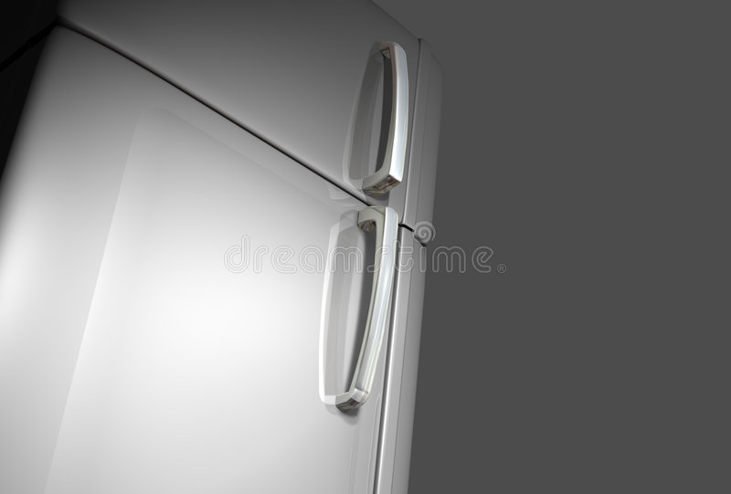 Refrigerator door royalty free stock images