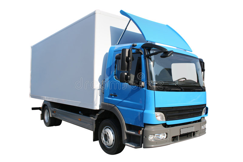 Refrigerator truck stock images