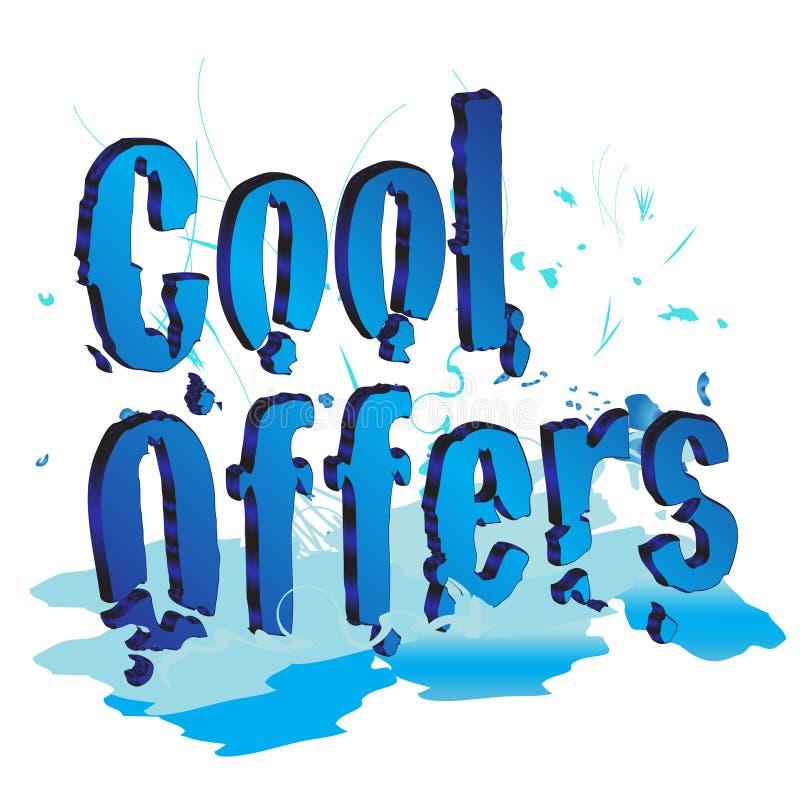 Refrigere ofertas ilustração stock