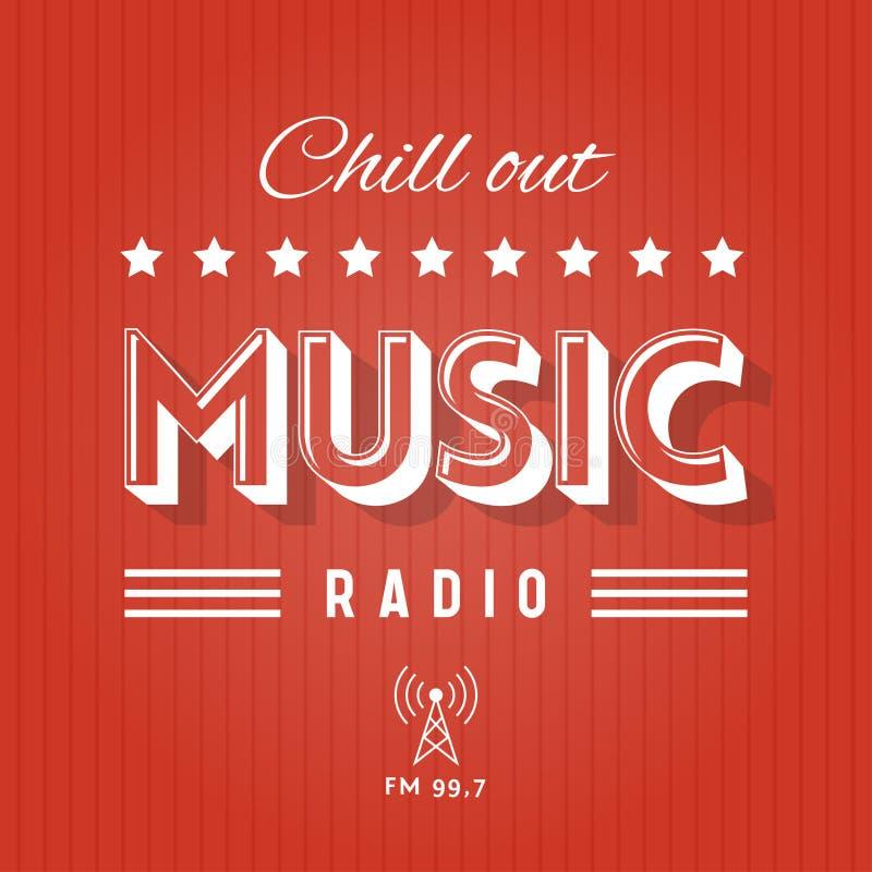 Refrigere para fora o rádio da música ilustração stock