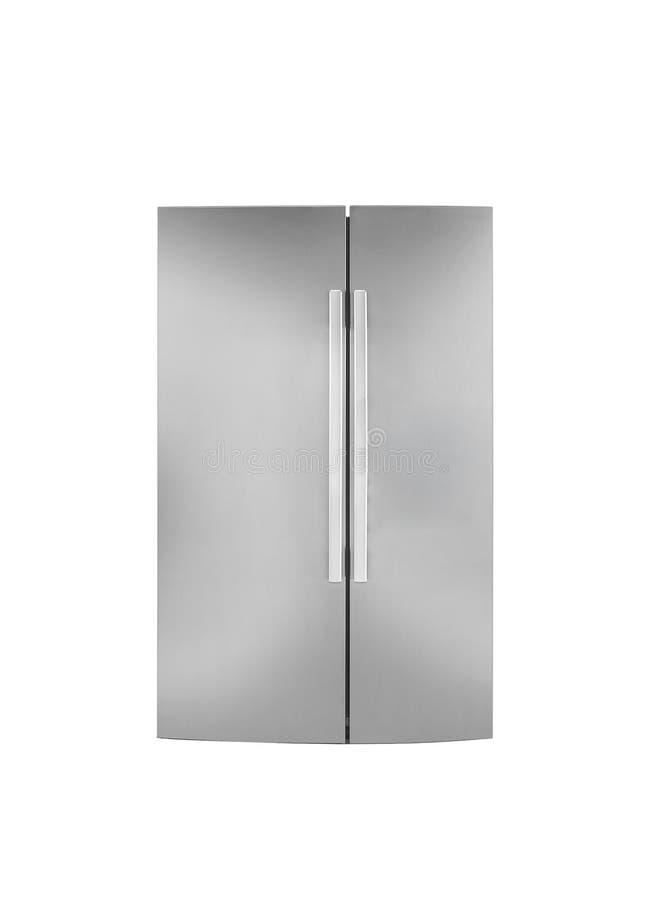 Refrigirator de deux portes Sur un fond blanc photos libres de droits
