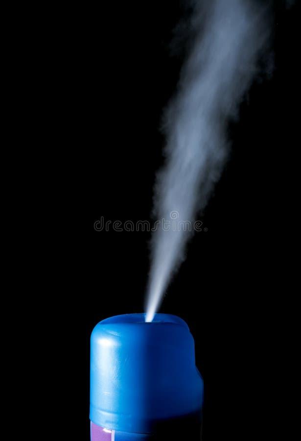 Refrogerador de ar do pulverizador isolado em um preto fotos de stock royalty free