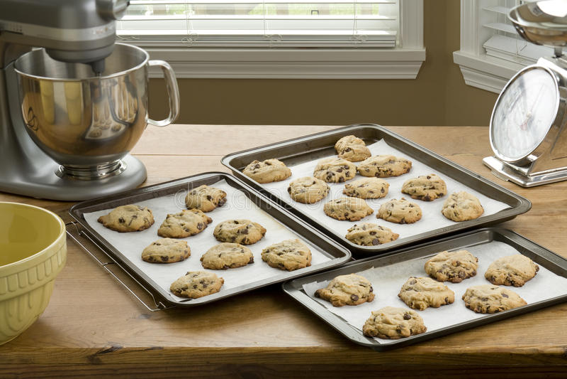 Refroidissement de biscuits photo libre de droits