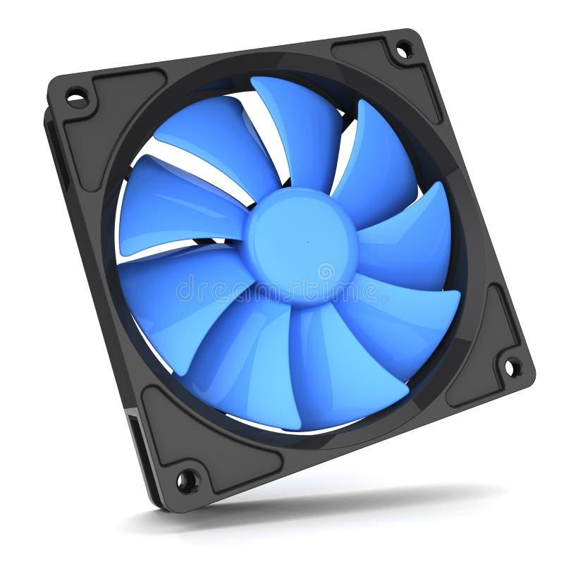 Refroidisseur bleu de fan pour le PC illustration stock