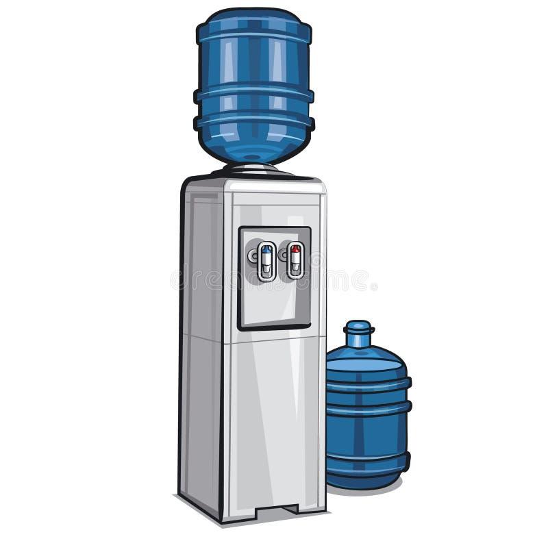 Refroidisseur d'eau électrique illustration stock