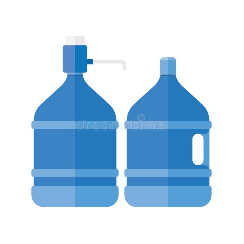 Refroidisseur d'eau avec la pompe illustration stock
