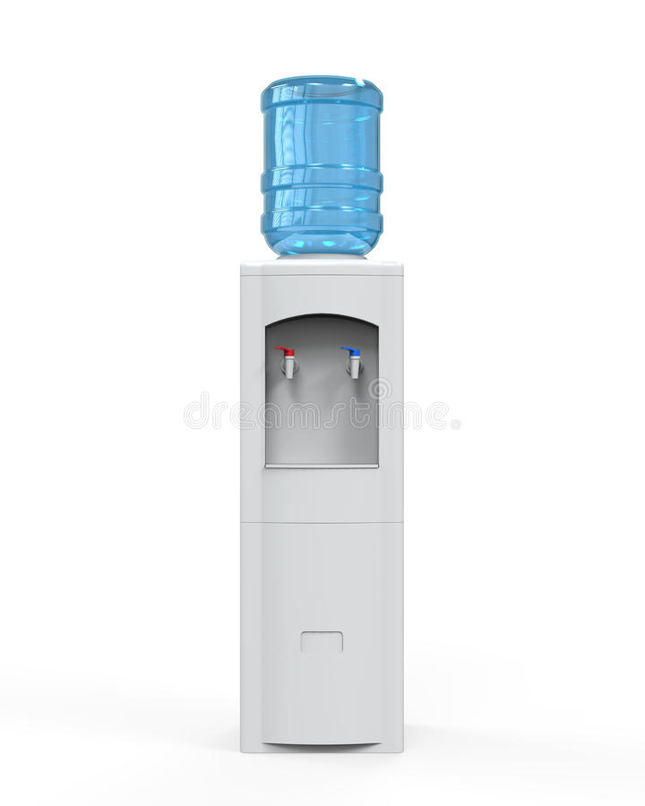 Refroidisseur d'eau blanche illustration stock