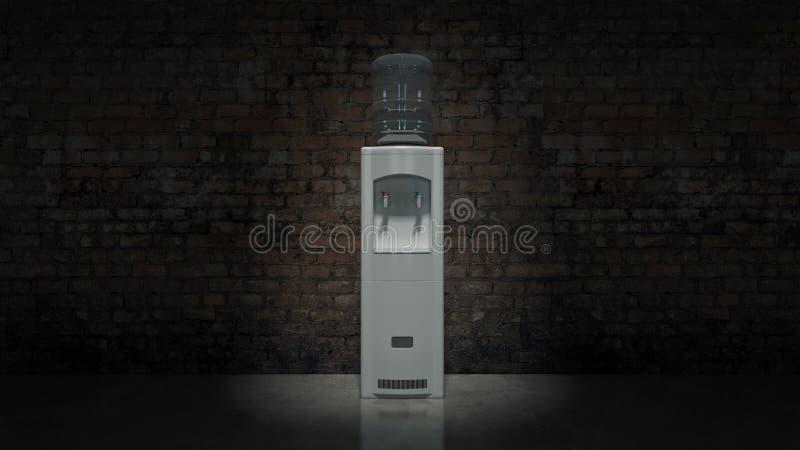 Refroidisseur d'eau blanche illustration libre de droits