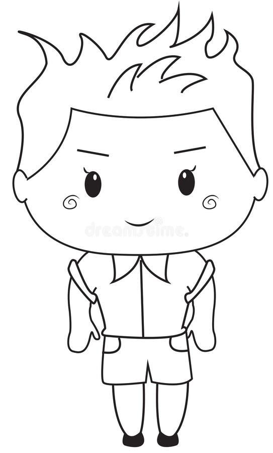 Refroidissez la page de coloration d'enfant illustration stock