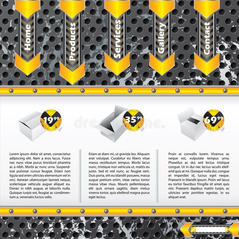 Refroidissez le descripteur industriel de site Web illustration stock