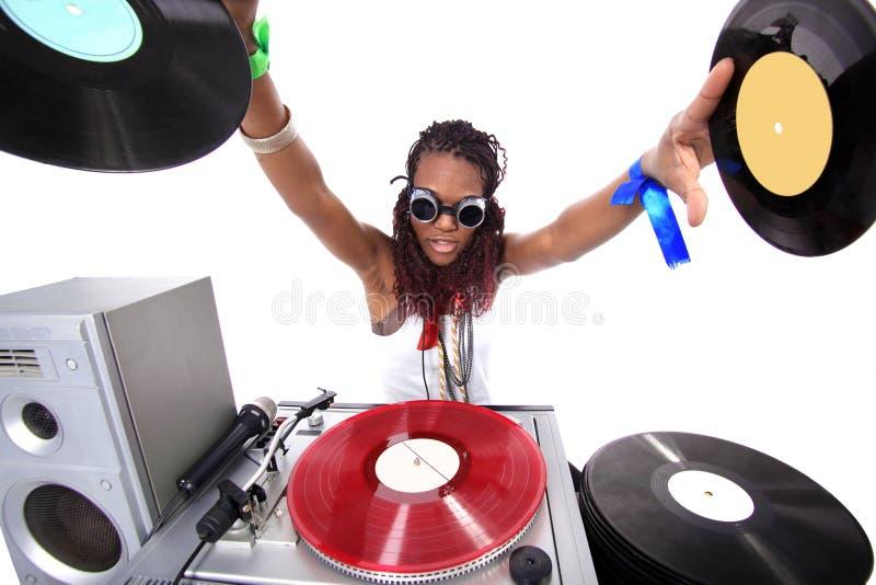 Refroidissez le DJ afro-américain photo libre de droits