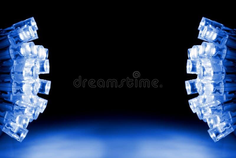 Refroidissez les lumières bleues de DEL les deux côtés de l'image image libre de droits