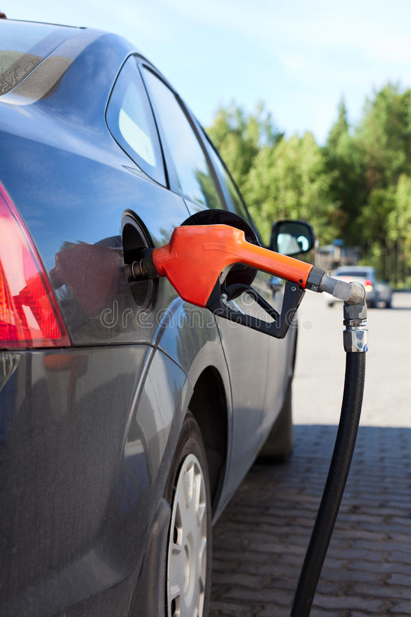 Download Refueling Nozzle In The Car Stock Image - Image: 21562813