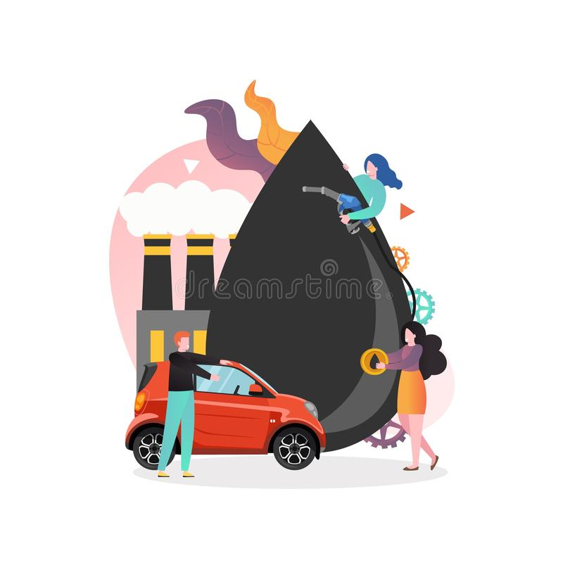 Free Refueling Vector Concept For Web Banner, Website Page Royalty Free Stock Photo - 164512095